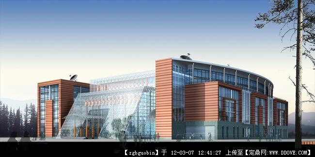 某学校建筑效果图