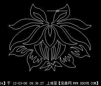 一朵莲花cad