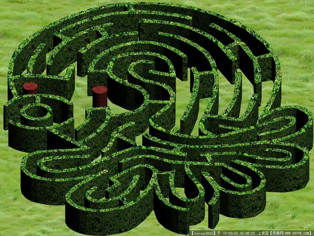 绿篱迷宫 章鱼形状模型