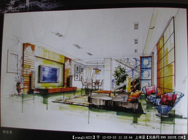 家居手绘室内设计图纸高清图展示