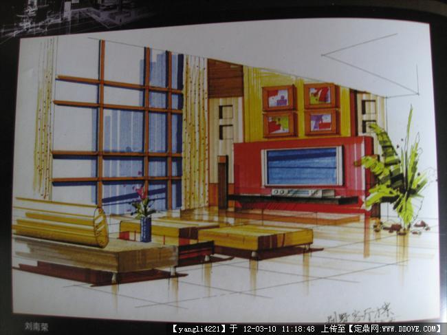 手绘室内效果图的图片浏览