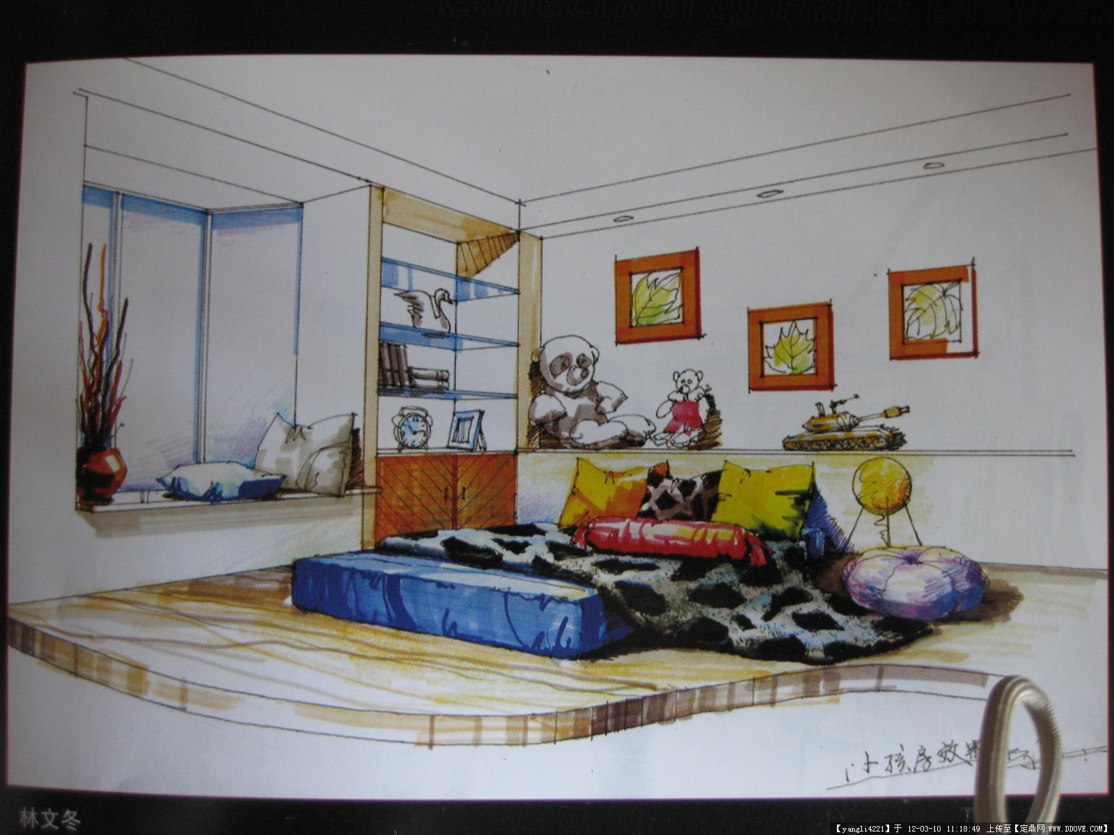 最美彩手绘效果图_手绘效果图1重庆室内设计培训室内设计师培