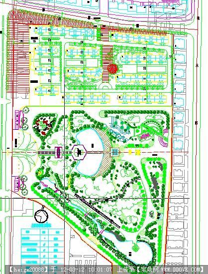 安阳某小区及公园绿地平面的下载地址,园林方案设计