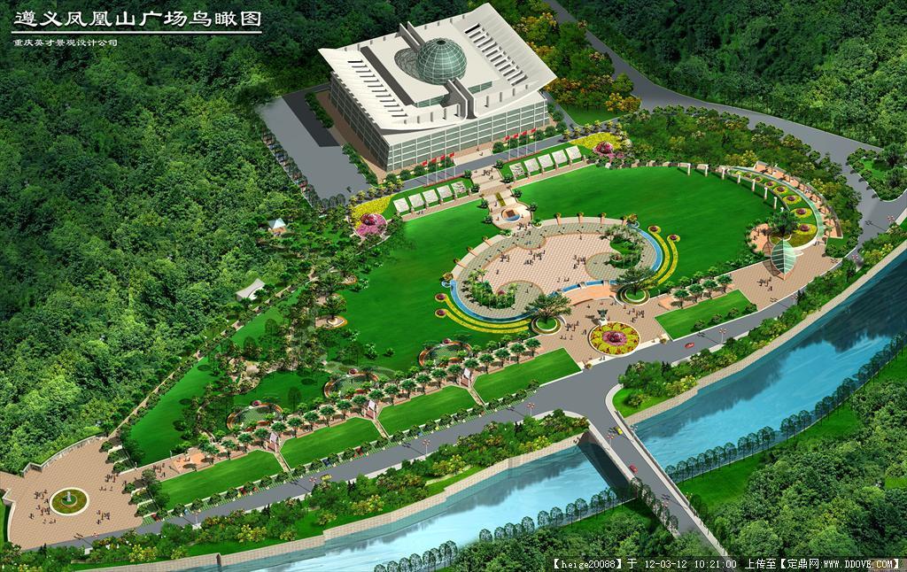 遵義鳳凰山廣場景觀設計全套施工圖