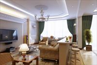 欧式现代客厅方案图