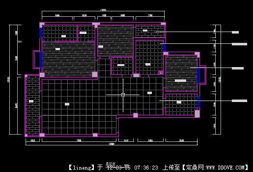 室内施工地材图cad打印清晰cad图纸图片