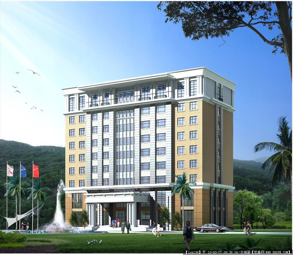 小高层宾馆酒店建筑施工图 附效果图