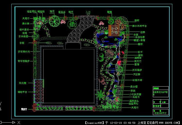 别墅庭院平面图.dwg图片