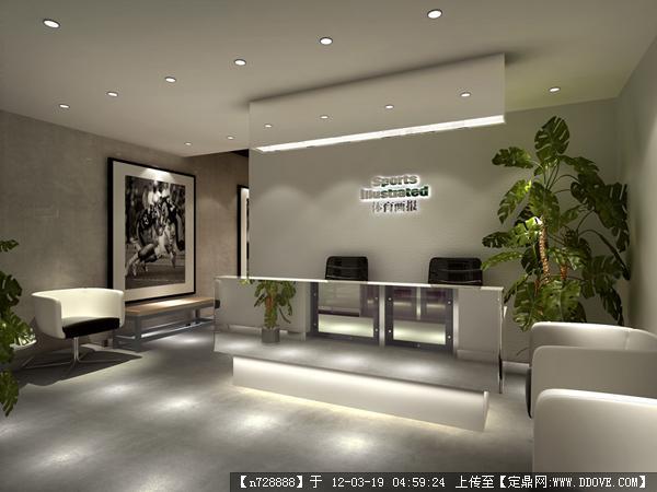 机玻璃吊顶现代金融投资公司办公室设计_1434424 – 设计本装修效果图