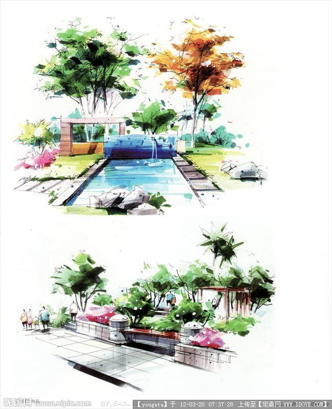 图片浏览,图纸效果图,手绘效果,园林景观设计施学会园林看如何图片