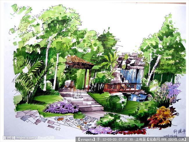 园林景观手绘图