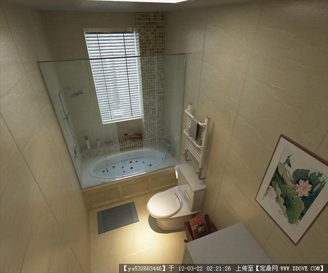 100㎡小套房中式设计-卫生间.jpg
