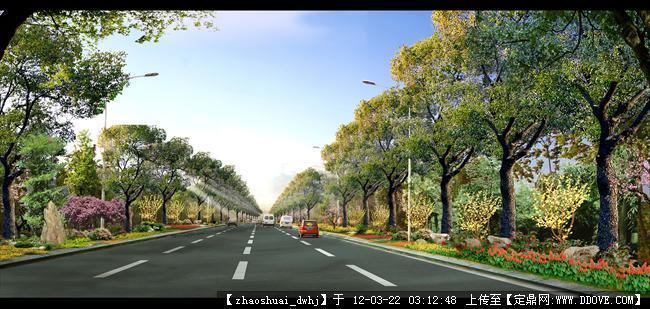 南昌城市道路设计 西入口方案二道路绿化效果副本.jpg