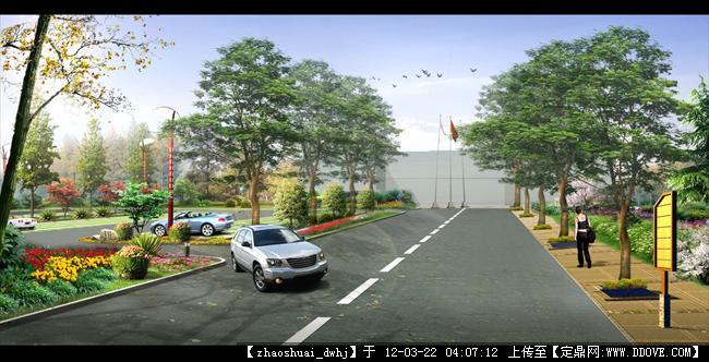 某景区大门 停车场效果 办公楼前道路绿化副本.jpg