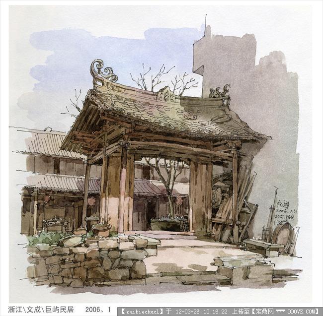 夏克梁手绘的图片浏览,园林效果图,手绘效果,园林景观