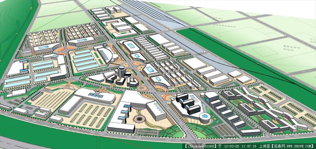 定鼎网 定鼎建筑 建筑方案图纸 城市规划 国际商贸物流园规划设计