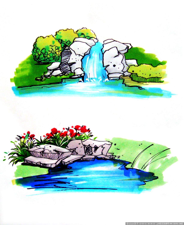 几张手绘马克笔效果图第二弹