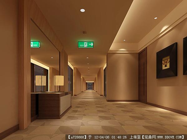 门厅 接待台 接待室 大厅效果图设计源文件05的下载