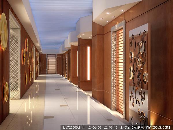 门厅/接待台/接待室/大厅效果图设计源文件04