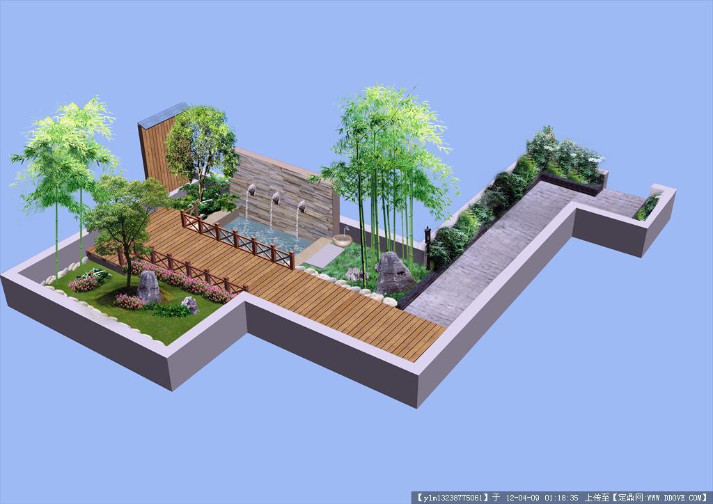 庭院设计ps效果图()图片