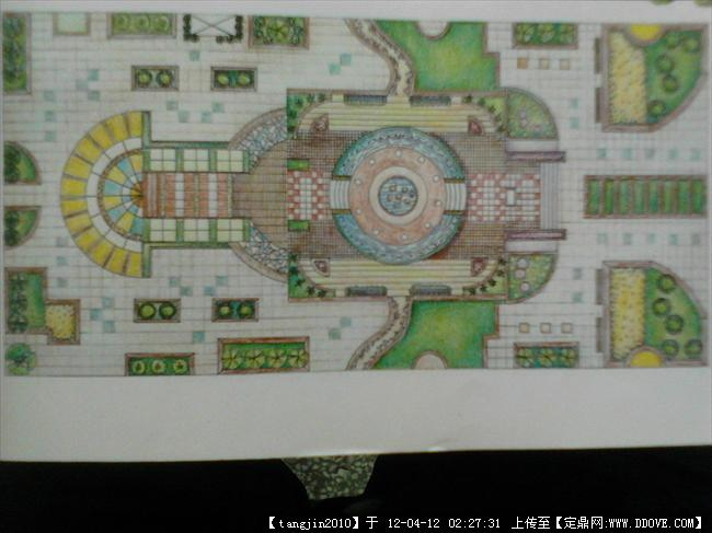 园林设计手绘平面图-园林平面设计图 医院园林设计平面图 园林小品设