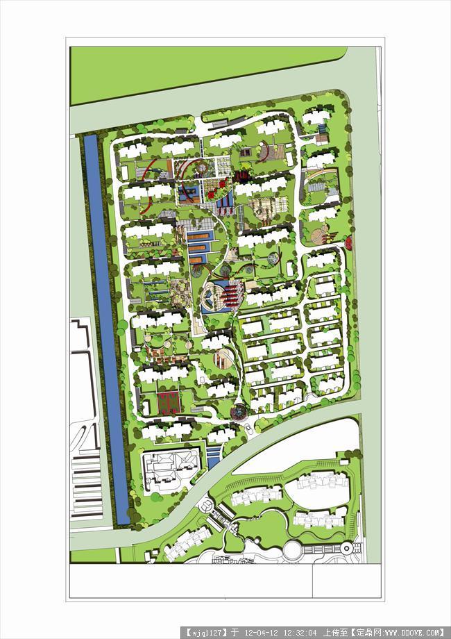 小区景观规划彩平图一张-大图