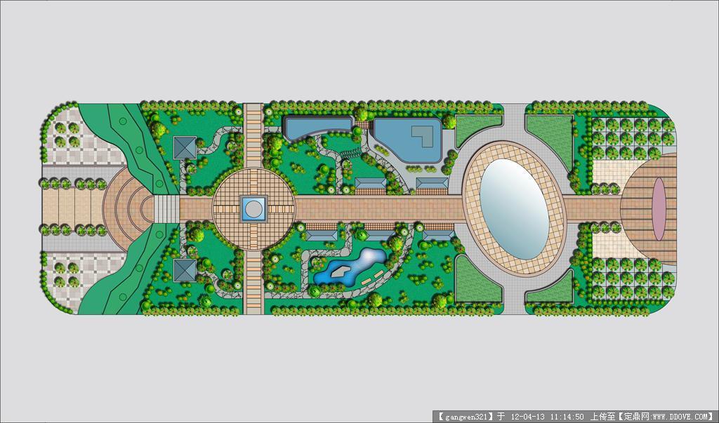 公园规划平面图