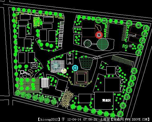 小区绿化平面图