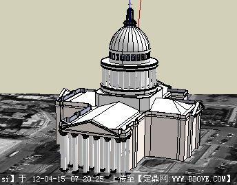罗马万神庙su模型