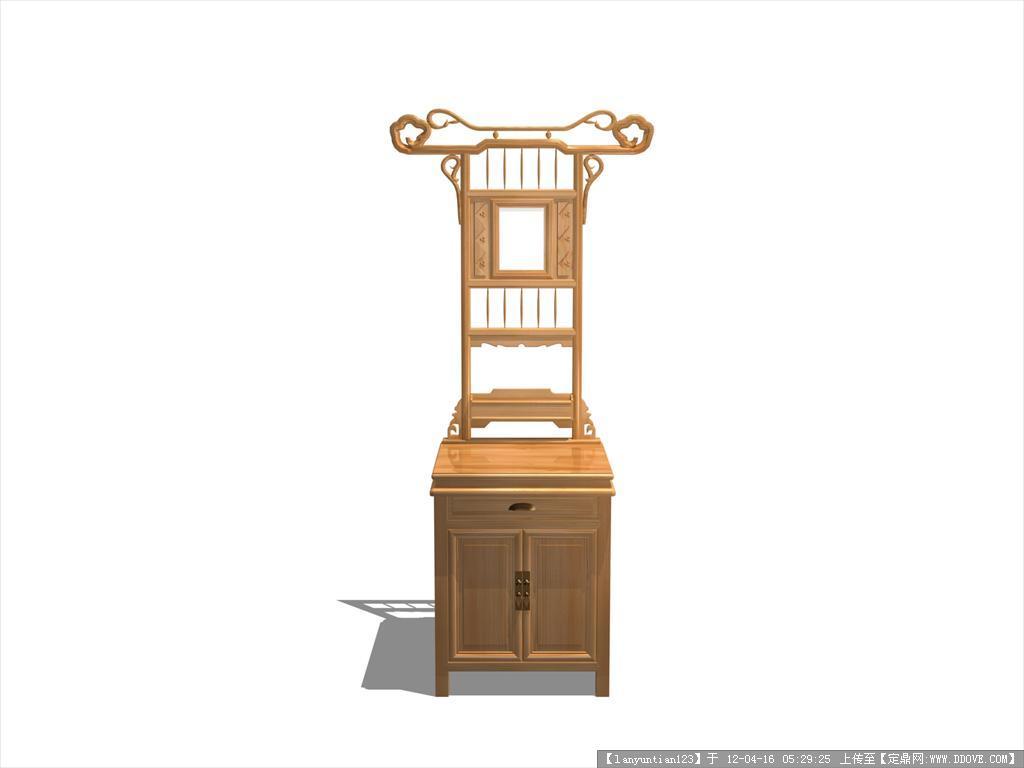 中式家具手绘三视图