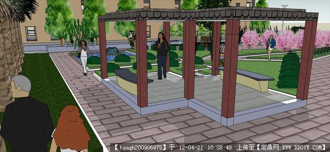 游园效果图的下载地址,园林效果图,校园景观,园林景观