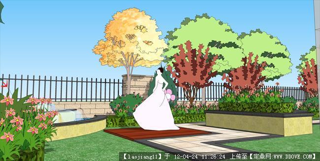 小庭院sketchup 模型