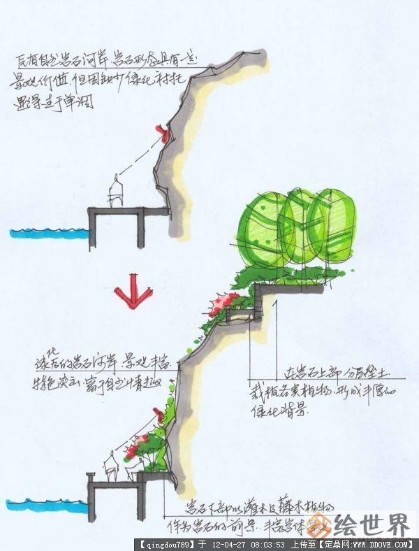 植物组团剖面图