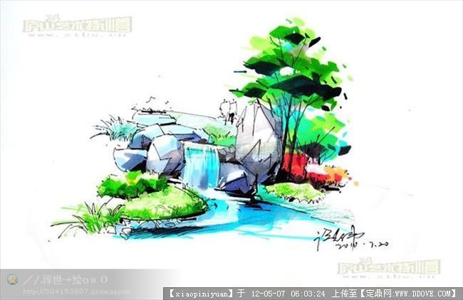 园林景观手绘