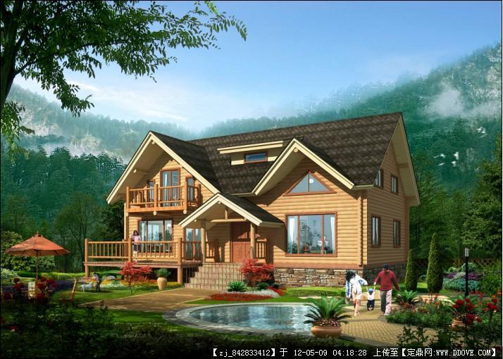轻型木屋平面图