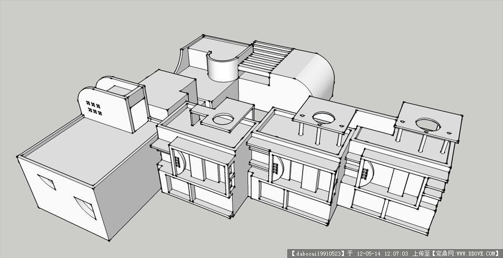 幼儿园设计方案sketchup简略图图片