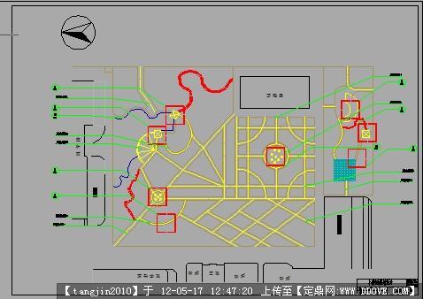 校园小游园规划设计cad