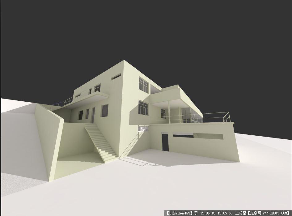 吐根哈特住宅; 设计素材 sketchup草图大师模型; 草图大师模型飞机模