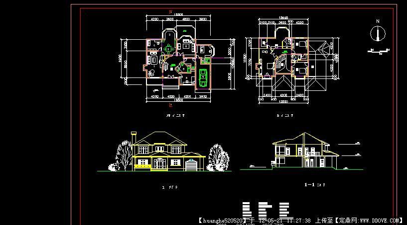 建筑图纸:小面积双层车库别墅户型图