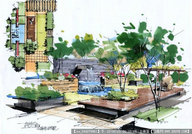 手绘效果图的图片浏览,园林效果图,手绘效果,园林景观