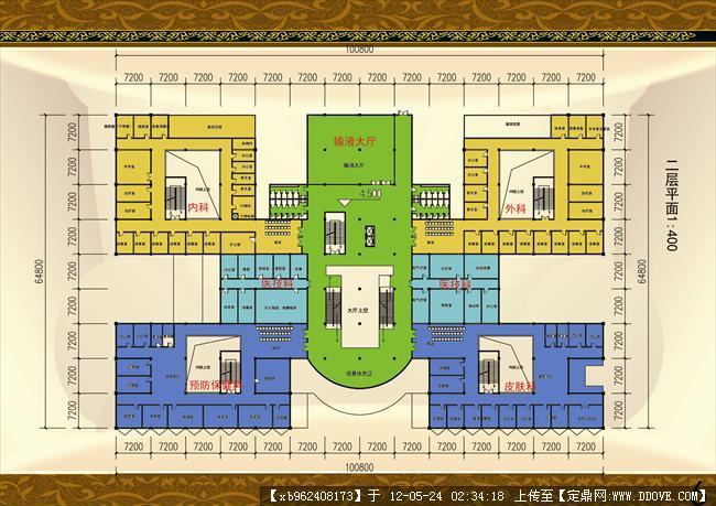 综合医院门诊部设计-二层平面.jpg