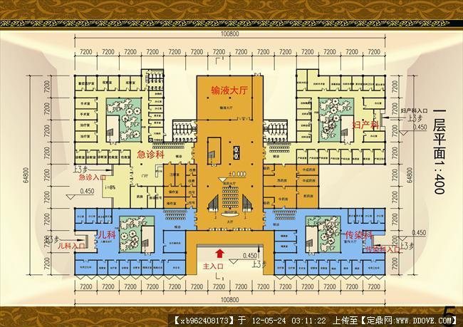 综合医院门诊部设计-一层平面.jpg