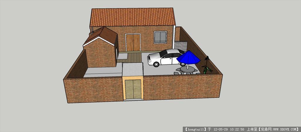 农村住宅su模型