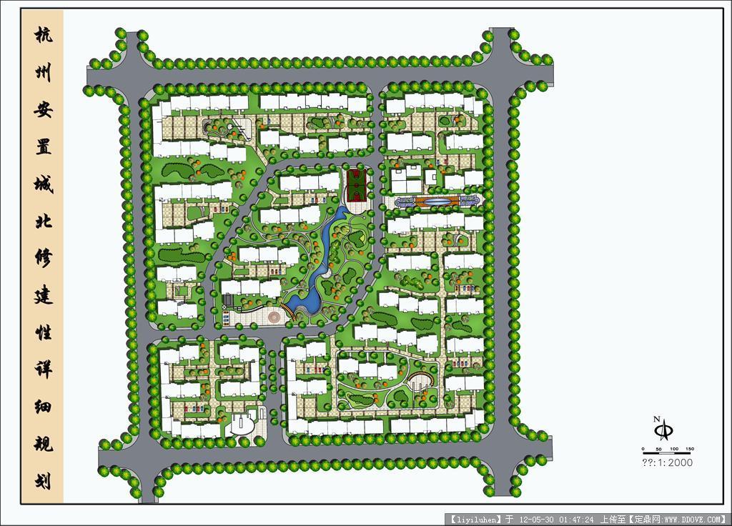 psd分层居住区规划图