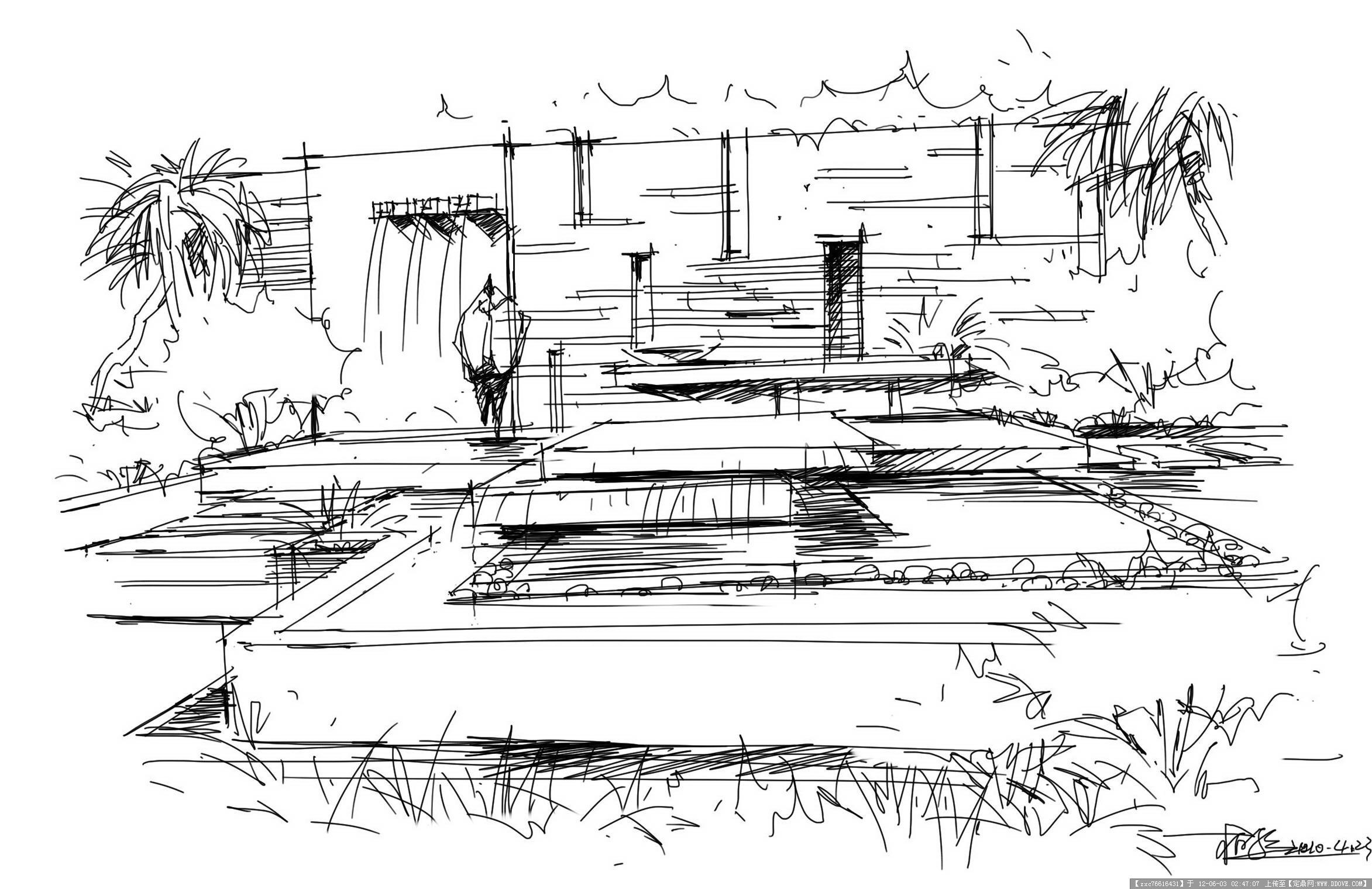 景观效果钢笔画几张-大图的图片浏览,园林效果图,手绘