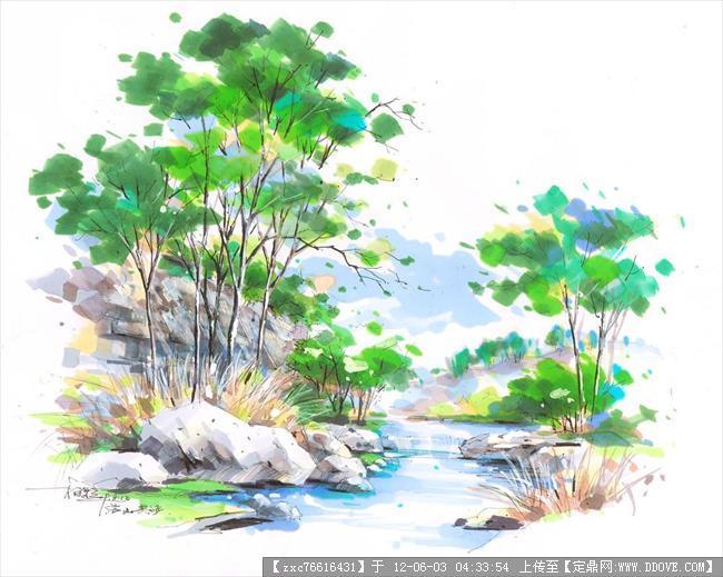 园林手绘练习-图片29张
