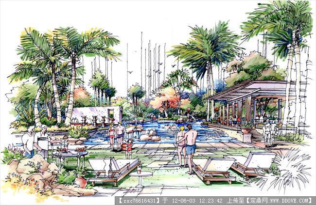 园林手绘练习-图片29张的下载地址,园林效果图,手绘,.