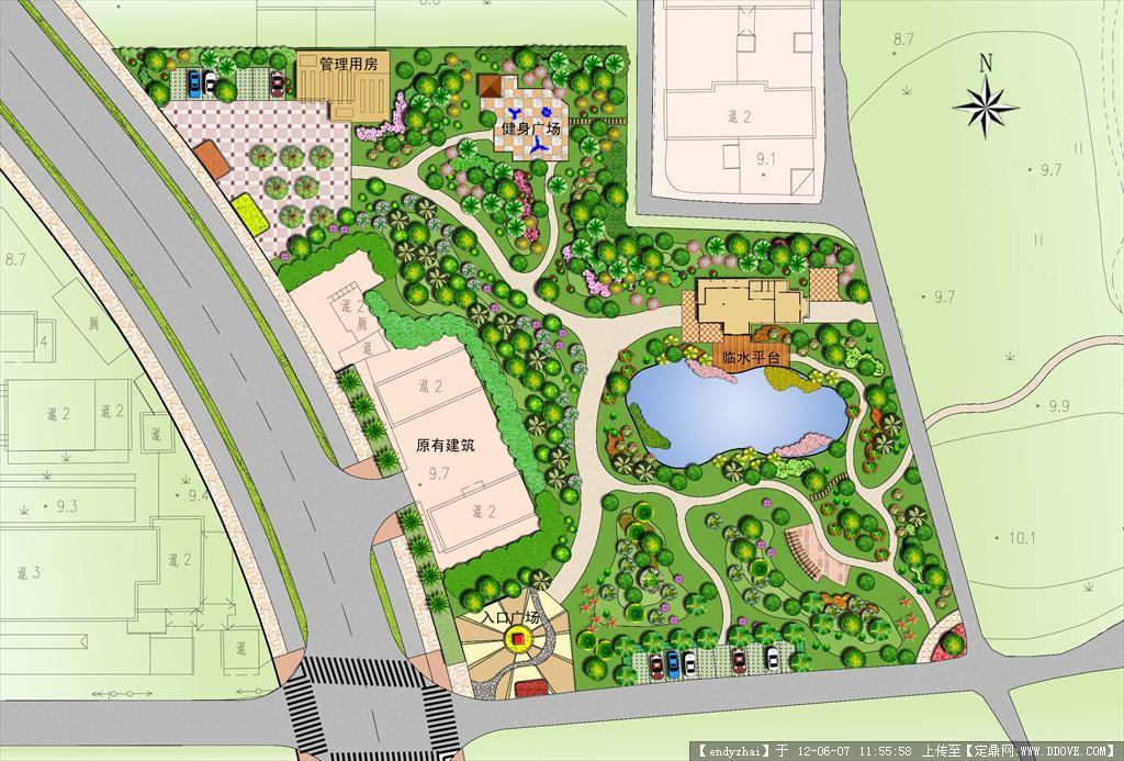 城市小游园景观设计平面图