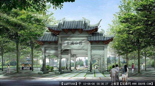 中国古建筑效果图_设计案例设计师古建筑设计设计工作室的空间