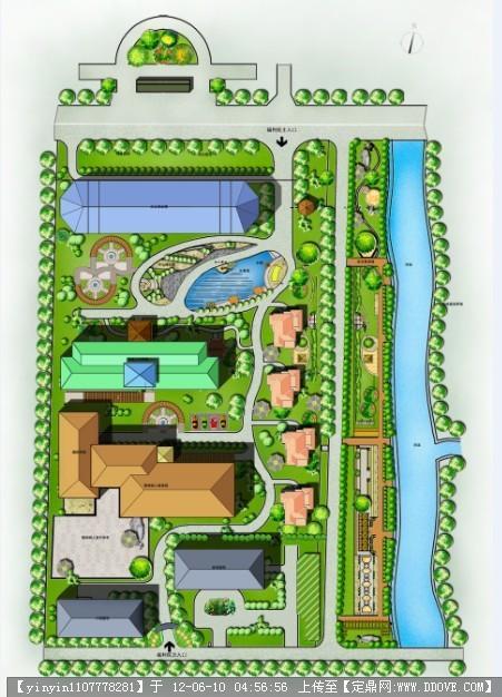 福利院景观绿化平面图